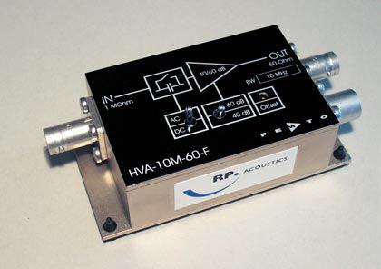 RP 10L PVDF水听器,RP 10S PVDF低频针式水听器前置放大器