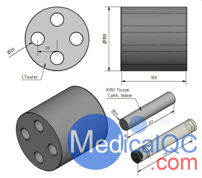 QRM-SCT光谱CT模体,QRM-SCT CT测试模体尺寸